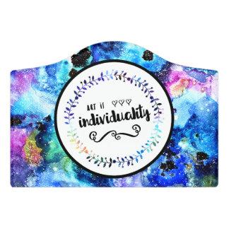 Plaque De Porte L'art est individualité