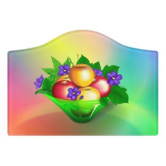 Plaque De Porte Pommes dans le vase