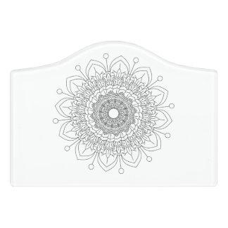 Plaque De Porte Vect desing d'Indien de conception de fleur de