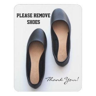 Plaque De Porte Veuillez enlever les chaussures