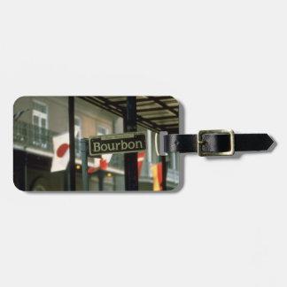 Plaque de rue de Bourbon à la Nouvelle-Orléans Étiquettes Bagages
