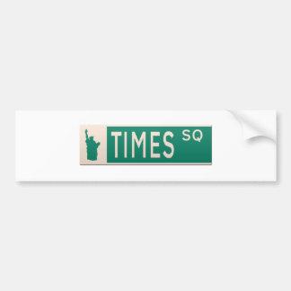 Plaque de rue de New York - place de périodes Autocollant De Voiture