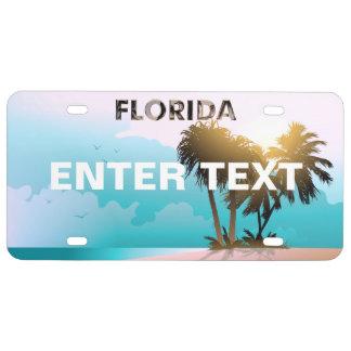 Plaque D'immatriculation La Floride