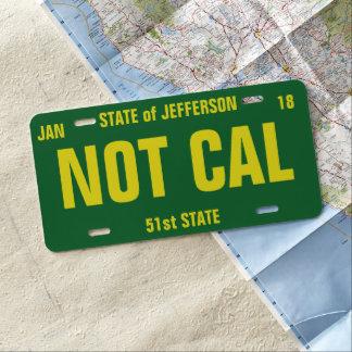 Plaque D'immatriculation L'état de Jefferson a personnalisé la plaque