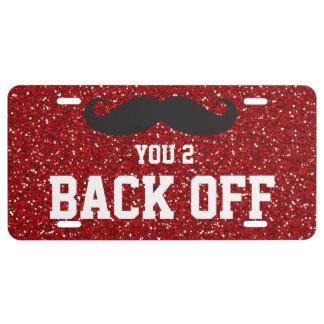 Plaque D'immatriculation Moustache vous 2 dégagez la plaque minéralogique