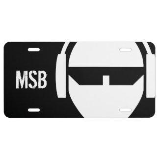 Plaque D'immatriculation MSB + Plaque minéralogique de Val