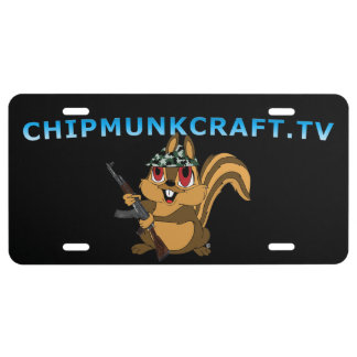 Plaque D'immatriculation Plaque minéralogique de ChipmunCraft v2