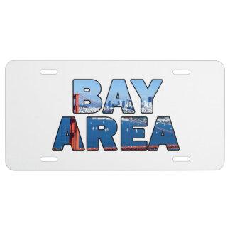 Plaque D'immatriculation Région de Baie de San Franciso