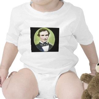 Plaque en verre de guerre civile d'Abraham Lincoln Body Pour Bébé