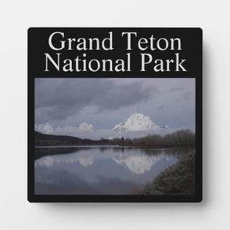Plaque grande de parc national de Teton