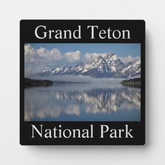 Plaque grande de souvenir de parc national de