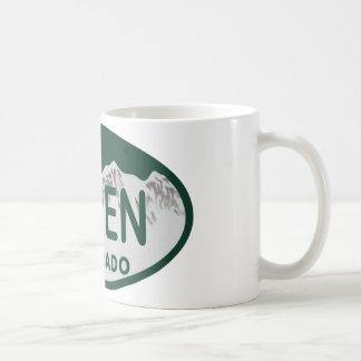 Plaque minéralogique d'Aspen le Colorado Mug