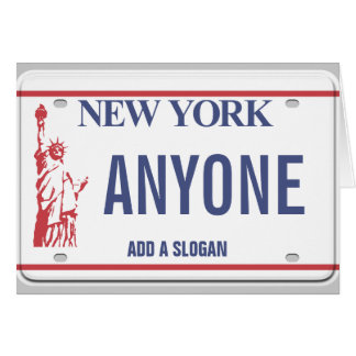 Plaque minéralogique de New York (personnalisée) Carte De Vœux