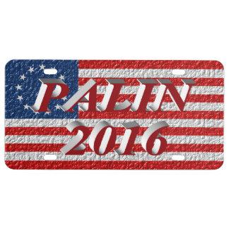 Plaque minéralogique de PALIN 2016, 3D rouge,