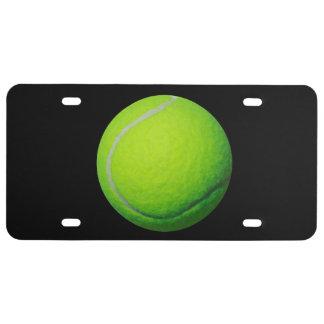 Plaque minéralogique de thème de balle de tennis