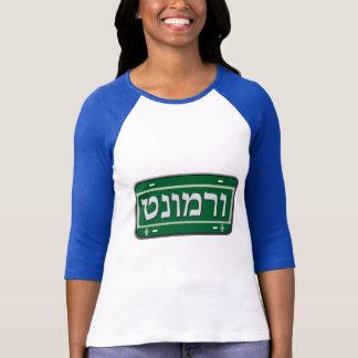 Plaque minéralogique du Vermont dans l'hébreu T-shirt