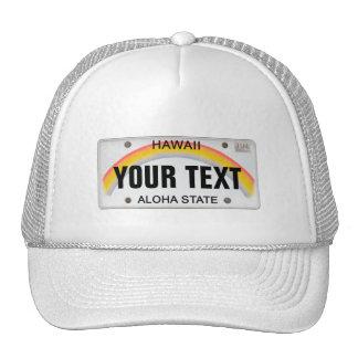 Plaque minéralogique hawaïenne (personnalisable) casquette