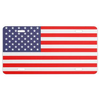Plaque minéralogique patriotique avec le drapeau a