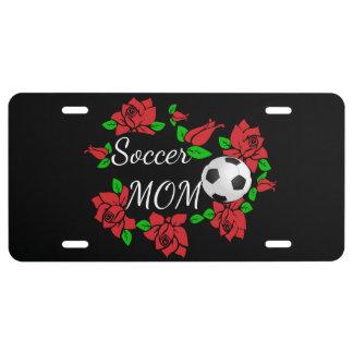 "plaque minéralogique rose ""maman du football """