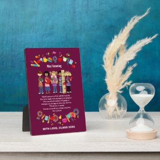 Plaque personnalisable de cadeau d'appréciation de impressions sur plaque
