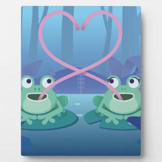 Plaque Photo amants de grenouille de jour de valentines