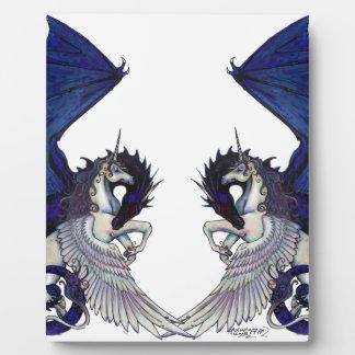 Plaque Photo Amants de licorne et de mariage de dragon