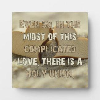 Plaque Photo Amour compliqué