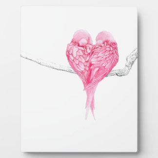 Plaque Photo Amour d'oiseaux