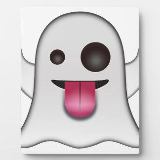 Plaque Photo Amusement frais d'Emoji de fantôme effrayant