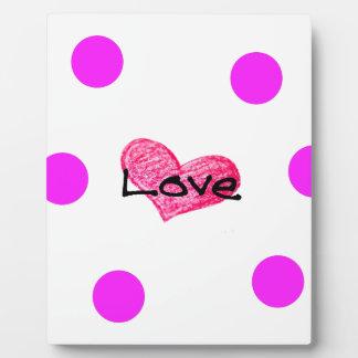 Plaque Photo Anglais de conception d'amour