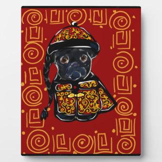 Plaque Photo Année noire de carlin du chien