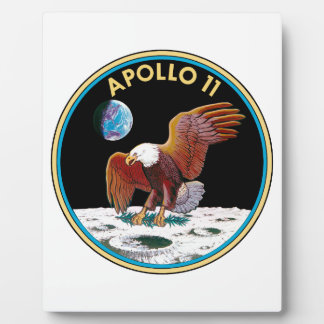 Plaque Photo Apollo 11