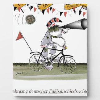 Plaque Photo arbitre allemand du football