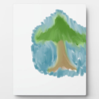 Plaque Photo Arbre simple