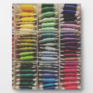 Plaque Photo Arc-en-ciel de soie de broderie