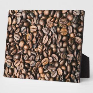 Plaque Photo Arrière - plan de grain de café de Brown