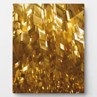 Plaque Photo Art abstrait de plafond d'or