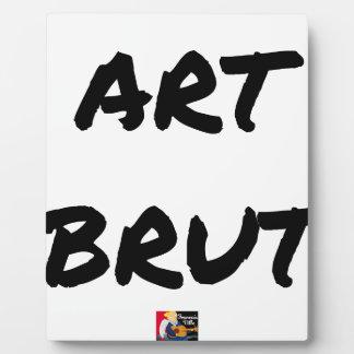 Plaque Photo art_brut__jeux_de_mots_francois_ville