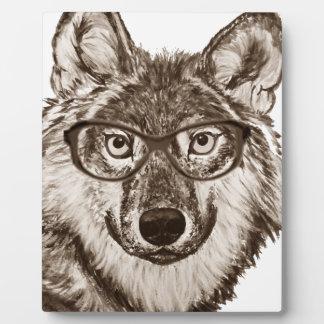 Plaque Photo Art de ballot de loup