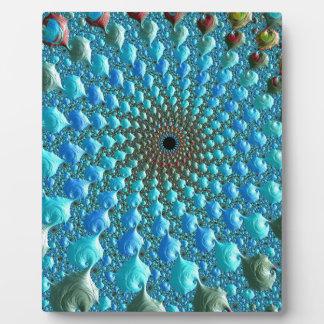 Plaque Photo Art de fractale d'arc-en-ciel