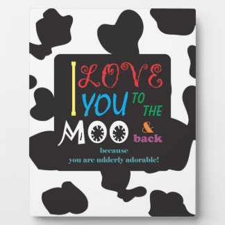 Plaque Photo Art de MOO de vache