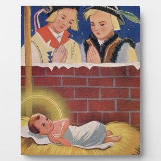 Plaque Photo Art de Noël polonais de Wesołyeh Świąt de cru