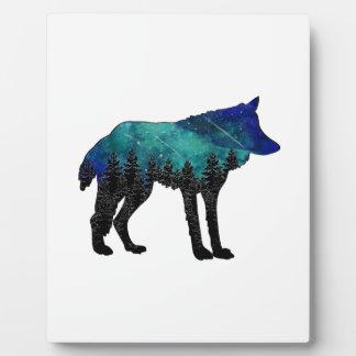 Plaque Photo Asile de loup