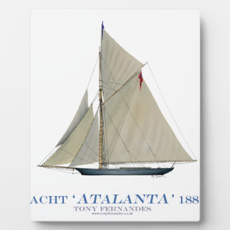 Plaque Photo Atalanta 1881