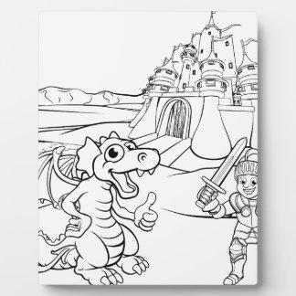 Plaque Photo Bande dessinée de château de dragon et de