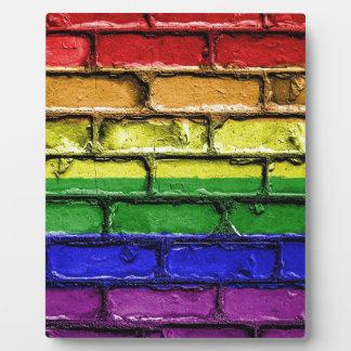 Plaque Photo Bannière LGBT gai de drapeau