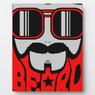 Plaque Photo barbe rouge