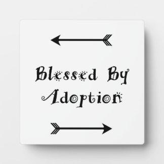 Plaque Photo Béni par adoption - accueil