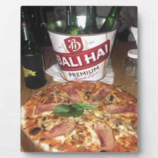 Plaque Photo Bière et pizza de Bali