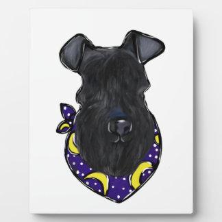 Plaque Photo Bleu de Kerry Terrier